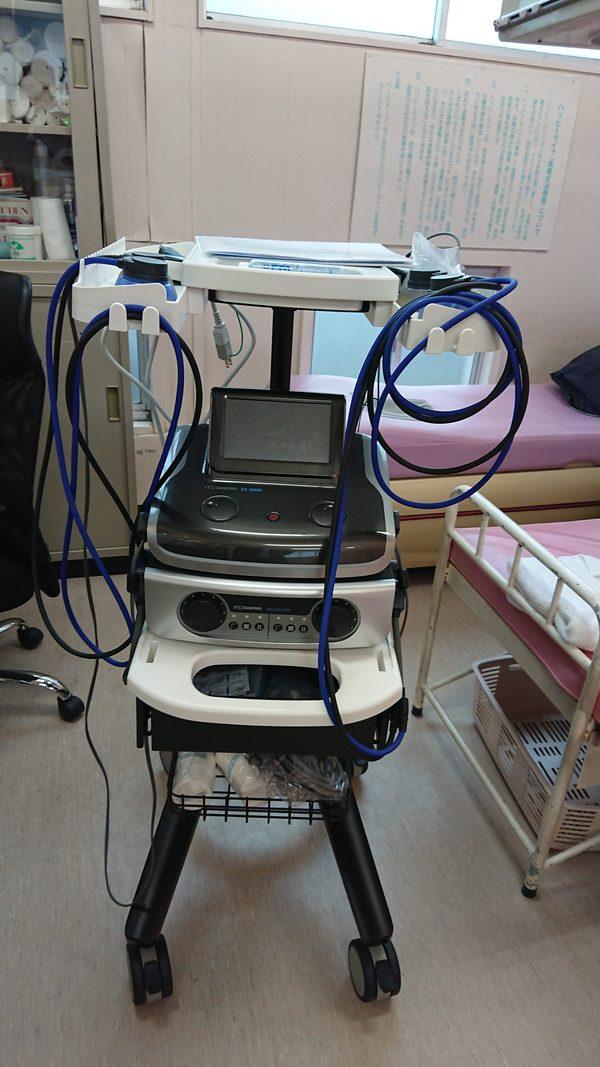 本日 千葉県の整骨院様に立体動態波&ハイボルテージ治療器 ES-5000を納品させて頂きました。