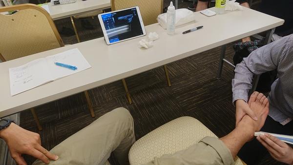 モバイルエコーSONON300L外傷セミナーに参加しました。