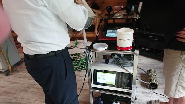 治療院開業予定の先生に医療機器のデモをさせて頂きました。