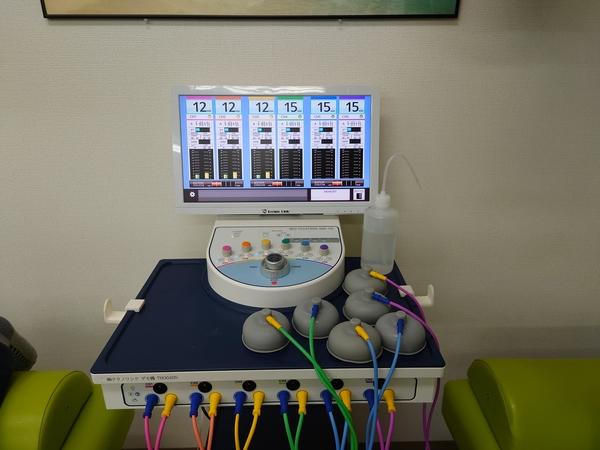 千葉県の整骨院でネオテクトロンをデモさせて頂きました。