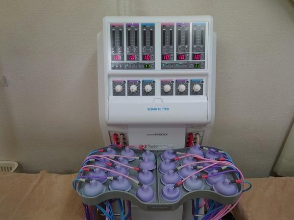 干渉波治療器:セダンテネオをデモさせて頂きました。